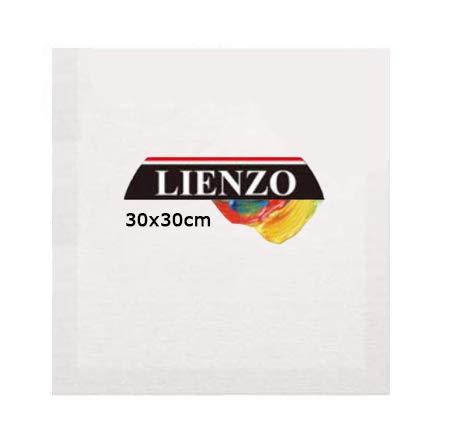 LEYENDAS vorgestreckte Leinwand aus 100% Baumwolle zum Malen,für Öl,Acryl oder Mischtechnik,380 g / m²,Profil 35 mm 1 30 x 30 cm weiß