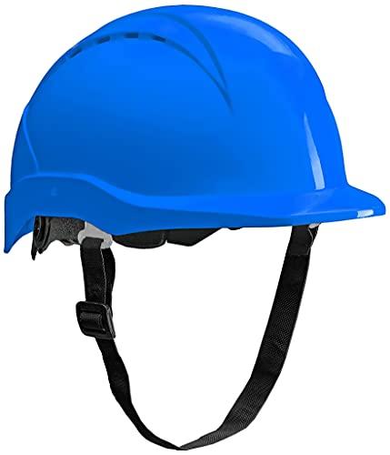 ACE Patera Bauhelm - Robuster Schutzhelm für BAU & Industrie - EN 397 - mit Einstellbarer Belüftung - Blau