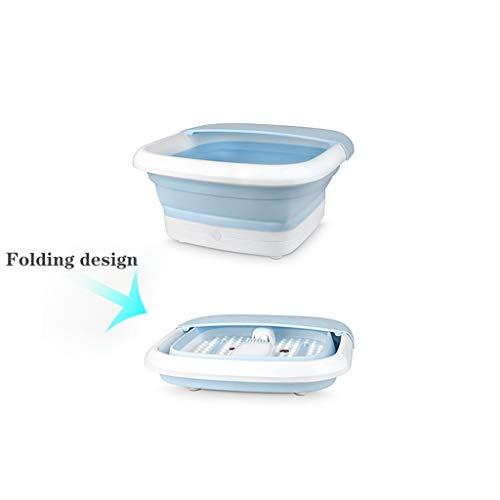 Sdfhh Bathroom Foot Wash Basin Foot Spa Bucket Foot Soaking Tub Folding Foot Bath Heating Foot Bath Massage Footbath Home Pedicure Thermostat The Best Helper in The Bathroom