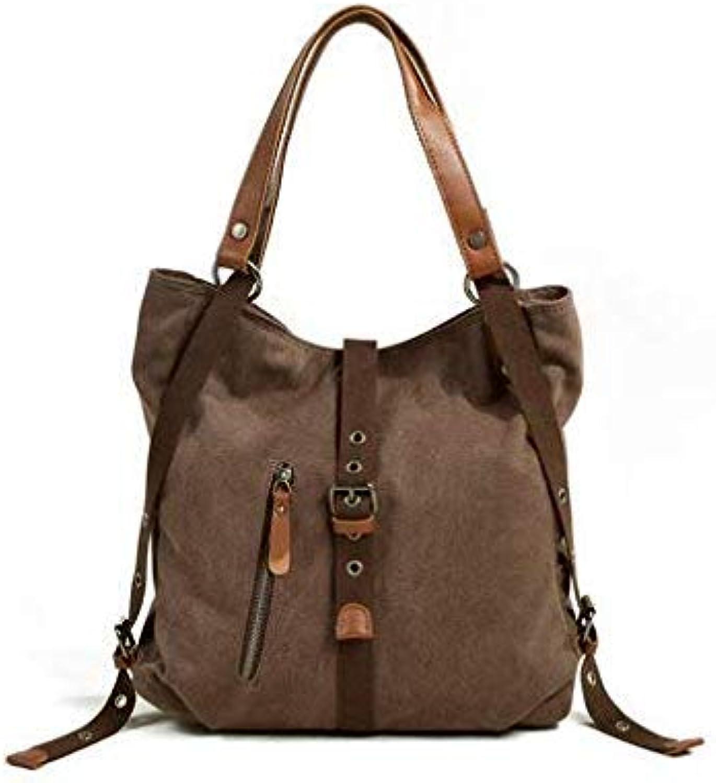 Bloomerang Fashion Women Canvas Shoulder Bags Daily Shopping Bag Ladies Luxury Handbags Travel Tote School Bags for Female Bolsas Feminina color Coffee