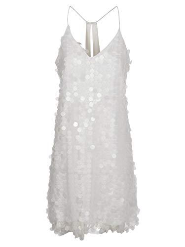 MOLLY BRACKEN Vestido Full Pialettes Blanco