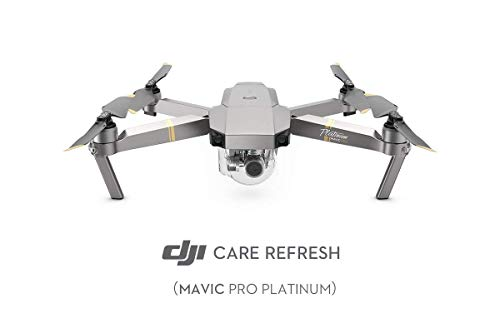 DJI Mavic Pro Platinum - Care Refresh, Garantie für Mavic Pro Platinum, bis zu zwei Ersatzgeräte innerhalb von 12 Monaten, schneller Support, Abdeckung von Sturz- und Wasserschäden