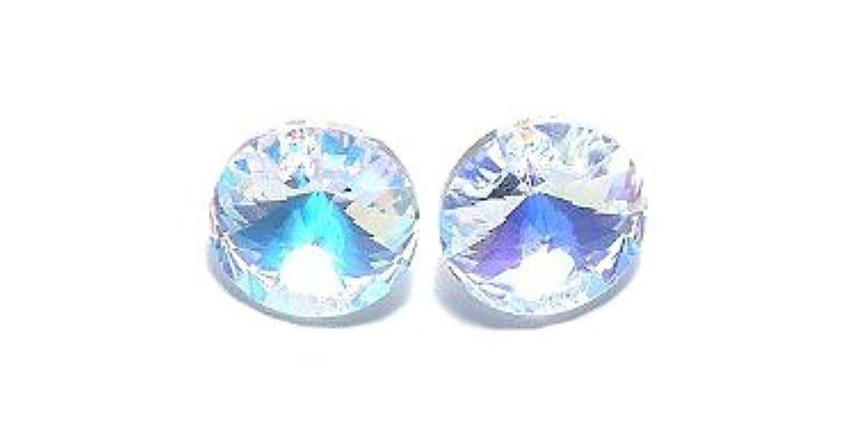 SWAROVSKI ELEMENTS Swarovski 6428 Xilion Rivoli Lentils Beads, Aurora Borealis, Crystal, 12-mm,