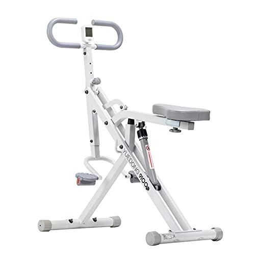 RR-YRN Máquina De Equitación, Utilizada para Entrenamiento De Músculos Abdominales, Brazos, Piernas, Espalda Y Glúteos, Ejercicio Aeróbico En Casa, 12 Niveles De Ajuste De Resistencia, Plegable