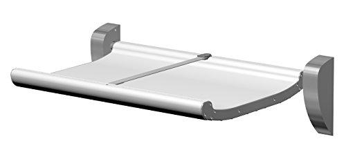 KEMMLIT Logrono Table à langer pliable en aluminium Blanc 78,2 x 96,7 x 62,6 cm