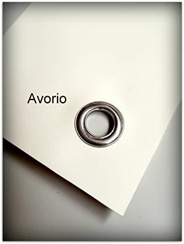 TUTTOPERGOLE Coperture con Fasce in PVC Pieno per Gazebo in Metallo (Cm 300 X Cm 45, Avorio)