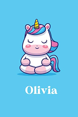 Olivia : Cute Unicorn Journal: Notebook With Name On Front Cover, 120 pages College Ruled Notebook Journal & Diary for Writing & Note Taking for ... Personalized Notebooks For Girls And Women)