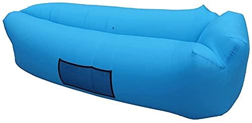 Aufblasbare Sofas Aufblasbare Liege, wasserdichte Bohnenbeutel wasserdichte Luftlieger Aufblasbare Couch Outdoor Sofa Luftcouch für Camping (Color : Blue)