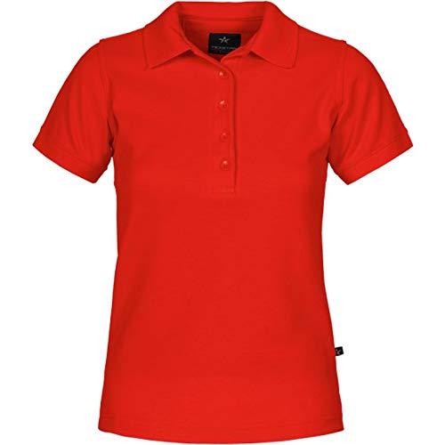Texstar PSW4 Damen Pikee Hemd mit Ärmeltasche, Größe XL, Rot