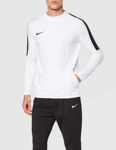 Nike Sec I NK Acdmy18 Hoodie PO Sweat à Capuche Homme Blanc/ Noir/ FR: S (Taille Fabricant: S)