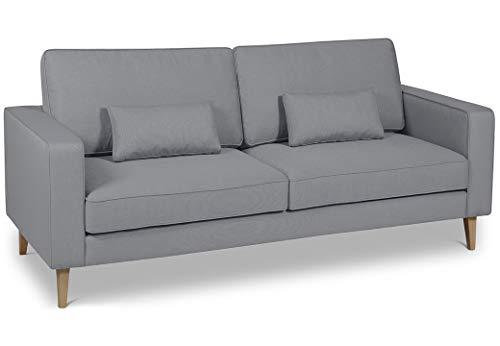 formart Austin 2 Sofa Stoff, Zwei-Sitzer Stoffsofa, Polyester/-Mischung, 155 x 82 x 88 cm