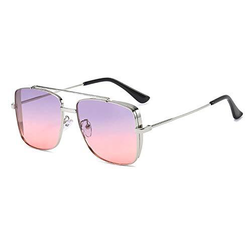 hqpaper Mujer con gafas de sol y gafas de sol de cara grande, morado y rosa