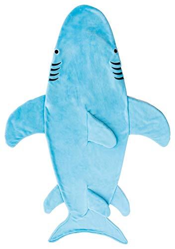 丸眞 着る毛布 ホオジロザメ H170×100cm 大人用 寝袋 穿く毛布 0295066200