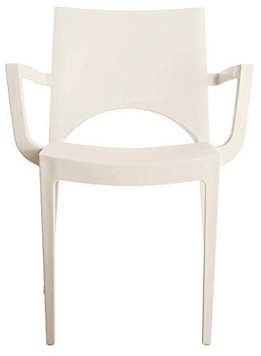 Grandsoleil a París apilable sillón, Polipropileno, Color Blanco, 51x 58x 80cm
