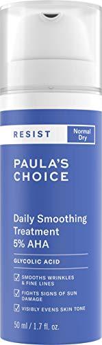 Paula's Choice Resist Antiedad 5% AHA Exfoliante - Peeling Hidratante Facial con Ácido Glicólico - Antiarrugas y Combate las Manchas - Pieles Normales a Secas - 50 ml