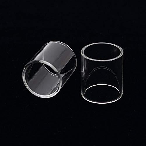 Denghui-ec, 2 unids Reemplazo de Tubo de Vidrio for Vaporesso Veco Plus 4ML Capacidad del Tanque for VECO Solo Plus/Nebula TC Kit, Sin Tabaco ni nicotina (Color : Clear)