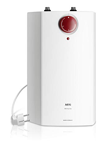 AEG Haustechnik druckloser Kleinspeicher HUZ 5 Öko DropStop, 5 Liter, 2 kW, tropft nicht beim Aufheizen, ThermoStop-Technologie, stufenlose Temperaturwahl von 35-85 °C, Untertisch, 222167