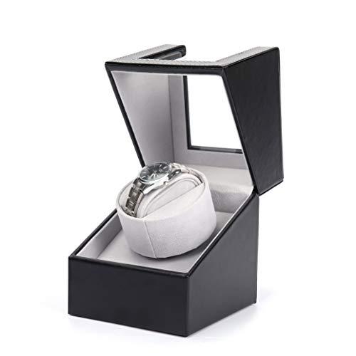 ZIXIXI Cajas giratorias Enrollador Automático De Reloj, Motor De Lujo, Agitador, Organizador, Enchufe, Caja De Cuero PU, Soporte para Caja, Pantalla De Reloj Mecánico