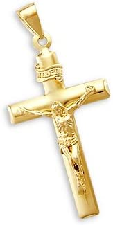 Sonia Jewels 14k Yellow Gold Great interest Lowest price challenge Crucifix Char Pendant Classic Cross