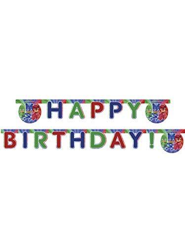 Happy Birthday Super Pyjamini Pj Masks, bunt, PR87412