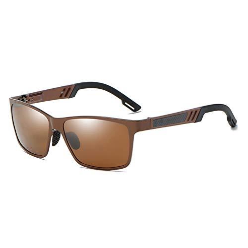 PrittUHU Aluminio Masculino polarizado para Hombre Gafas de Sol Espejo Gafas de Sol Accesorios de Gafas cuadradas para Hombres Hembra (Lenses Color : 3)