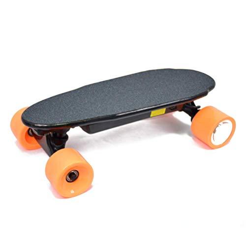 WXDP Cruiser Pro Skateboard,Elektrisches Skateboard Jugendliches elektrisches Longboard mit drahtloser Fernbedienung, 15-20 MPH Höchstgeschwindigkeit, 15 Meilen Reichweite, elekt