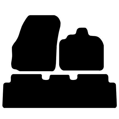 Carsio Skräddarsydda svarta mattor bilmattor för Renault Scenic 2004–2009