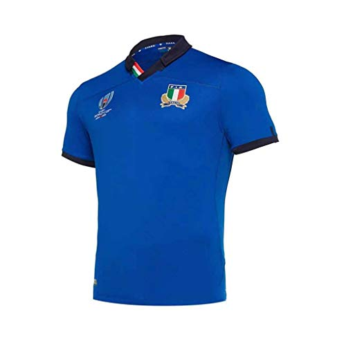 Pavilion Japan Welt Tasse Rugby Jersey Italien Mannschaft Kurz Ärmel Ausbildung Hemden Herren Beiläufig Sport T-Shirt (Size : M)