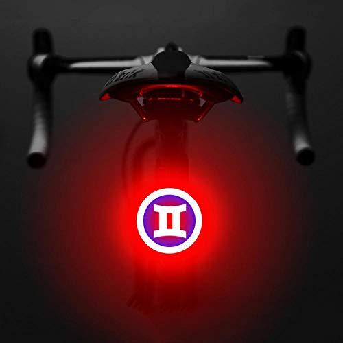 Jaeknxcg Luce Posteriore per Bicicletta USB Ricaricabile della Luce della Bici Impermeabile LED Ricaricabile Impermeabile Avvertimento 5 modalità Luce Posteriore Doppio Lampo Rosso-Gemelli e Blu