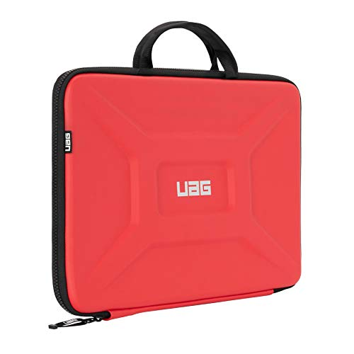 URBAN ARMOR GEAR UAG Large Sleeve with Carrying Handle for 15' Devices Magma Rugged Tactile Grip Weatherproof Protective Slim Secure Laptop/Tablet Sleeve