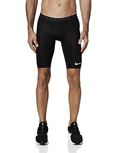 Nike PRO Short Long, Pantaloncini Sportivi Uomo, Nero (Black/Anthracite/White 010), 44 (Taglia Produttore:S)