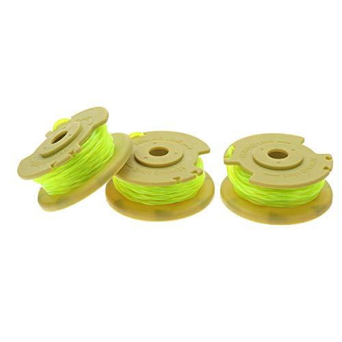 ExcLent 3Pcs Yellow 0.080 Inch Line String Trimmer Line For Ryobi 12V 24V 40V Mower