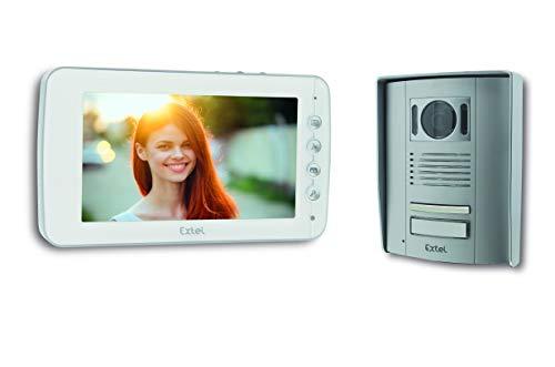 Extel 720305 - Videoportero de 2 Hilos Entry 7 - Apertura de Puerta y Puerta