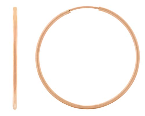 HUNTER & TROVE - 14K Rose Gold Fill Infinity Endless Hoop Earrings, 30mm