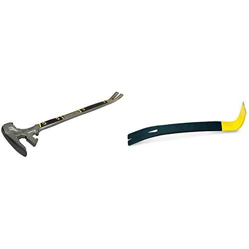 Stanley FatMax Fubar III (5-in-1 Abbruchwerkzeug, Vorschlaghammer, Nagelschlitz, Backen für Hölzer, Stemmeisen) & Wonder Bar Nageleisen (wärmevergüteter Karbonstahl, abgefacht und polierte Nut)