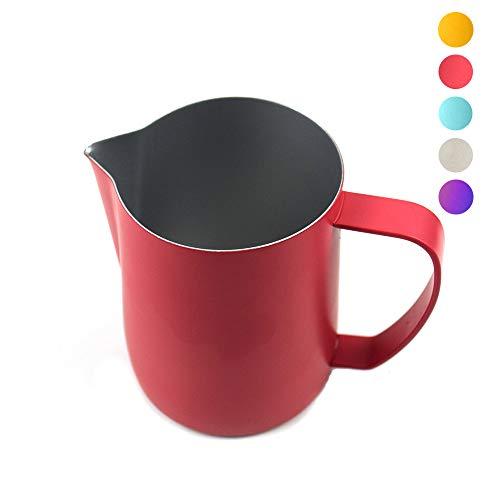 MIGHTYDUTY Milchkännchen, Edelstahl Milk Pitcher 350/600ml, Milchaufschäumer Schäumer Becher Kaffeemaschine Krug Aufschäumer Tasse für Cappuccino und Latté