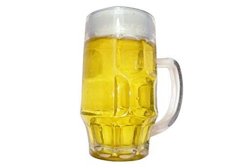 ERRO Bierkrug 0,4l - Bier Attrappe - Halbe Hell, Getränke Nachbildung, Deko Fake Food, Lebensmittelattrappe, Theater Requisite, Bühnendeko, Foodmodel, Bierglas