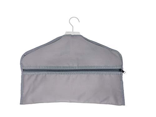 Hanger Diversion Safe Hidden Closet Hanging Stash Safe with Interior Pocket Conceals Cash Jewelry Documents Guns or Valuables – for Home or Travel (Gray)
