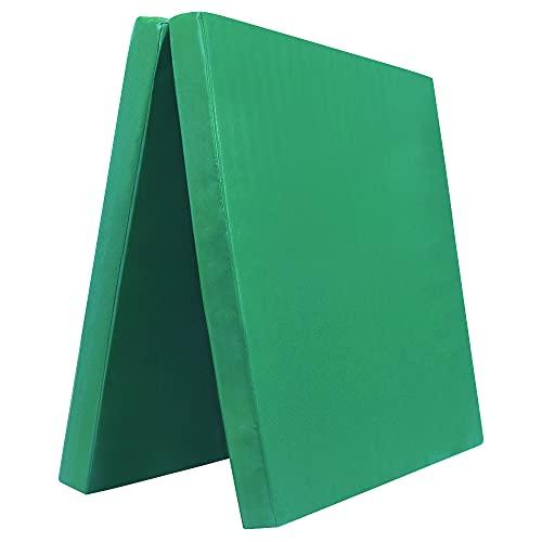 Grevinga Colchoneta de gimnasia plegable (RG 22), 200 x 100 x 8 cm, color verde, muy suave