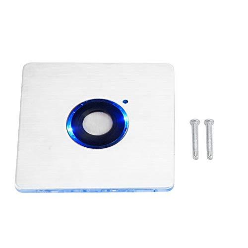 SANON Interruptor de Temporizador de Retardo Táctil de Luz Led Impermeable Al Aire Libre de Acero Inoxidable 16 Niveles de Configuración de Tiempo 86 * 86 Mm / 3. 4 * 3. 4 Pulgadas