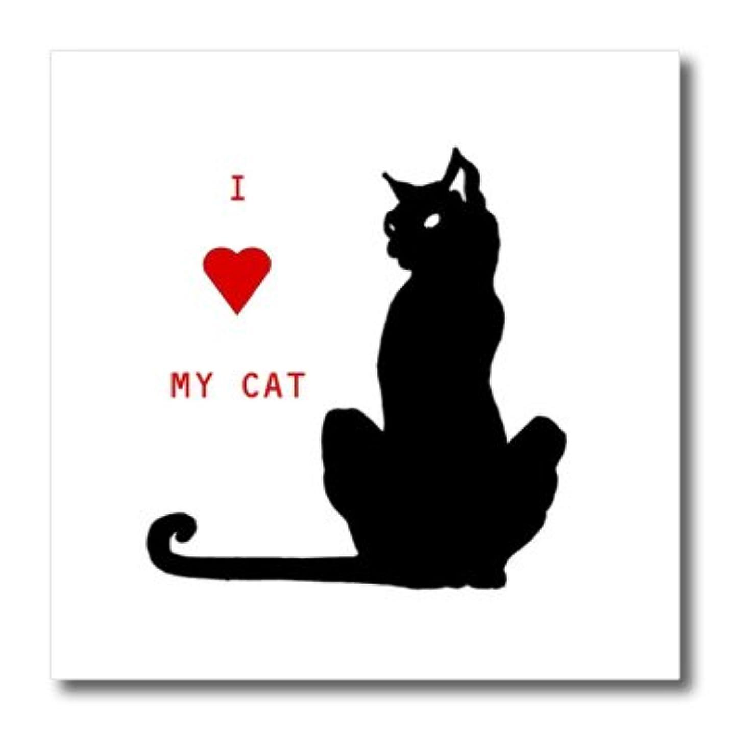 3dRose I Love My Cat-Iron on Heat Transfer, 8 by 8
