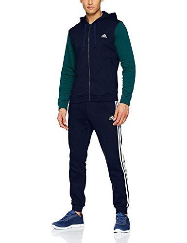 adidas Energize Trainingsanzug, Collegiate Navy, Noble Green, Weiß, FR: XL (Größe Hersteller: 9)