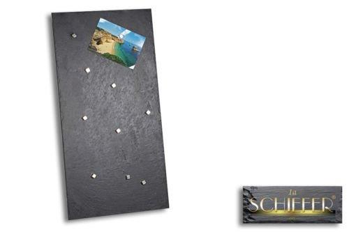 Magnettafel Magnetwand Kreidetafel Pinnwand aus Schiefer 30x60 cm inklusive 10 Magneten