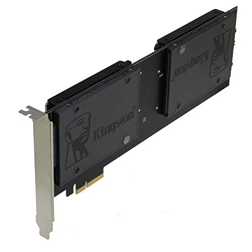 Sedna - PCIe 4X - Quad 2.5 Inch SATA SSD RAID Controller Card (RAID 0/1/10) Marvell HyperDuo Technology (with Built in Power Circuit, no Need SATA Power Connector) (SSD/HDD not Included)