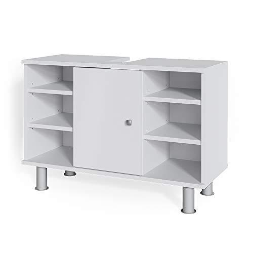 Vicco Waschtischunterschrank Fynn Badschrank Waschbeckenunterschrank Waschtisch (Weiß)