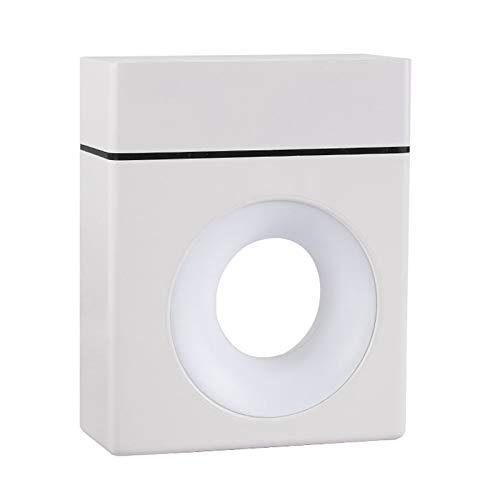 SODIAL Humidificador de Aire USB Difusor de Aceite Esencial 500Ml Luz de Noche Colorida Humidificador de Aire de Escritorio para el Hogar Humidificador - Blanco