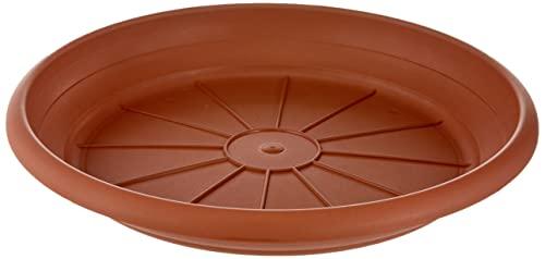 Scheurich Untersetzer aus Kunststoff, Terracotta, 30 cm Durchmesser, 4,7 cm hoch
