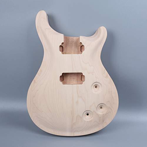 Gitarrenkörper aus Mahagoni-Ahornholz für E-Gitarre, unlackiert, Ersatz-Set