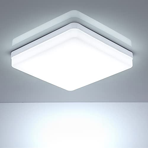 Plafoniera LED Soffitto 36W, Leelike 6500K Lampada a Soffitto 3240LM, Piazza Impermeabile Plafoniera a LED da Soffitto Luce Rotonda per Bagno, Cucina, Soggiorno, Camera da Letto Corridoio