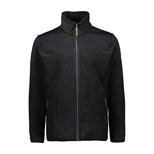 CMP – F.lli Campagnolo Herren Jacket Arctic Fleecejacke mit Reißverschluss, Carbone M., 48, 30H3247